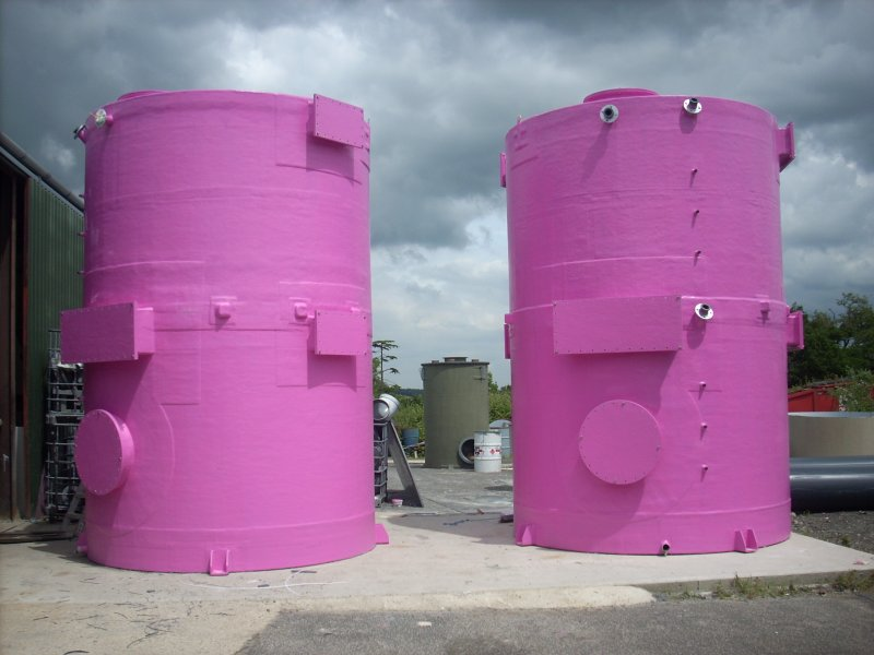 Carbon filters destined for the Olympic Park (dubbed Pinky and Perky)