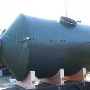 Carbon filter vessel awaiting delivery
