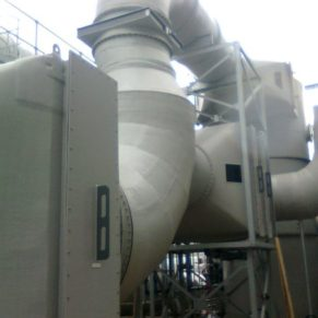 Duct work in use